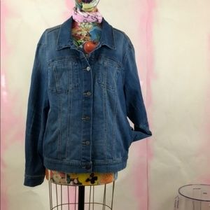 Anthropologie Jackets & Coats - Anthro Pilcro Amore Embroidered Denim Jacket Flora